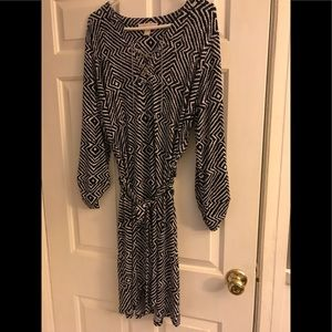 Michael Kors Navy and White  Dress Size 1X
